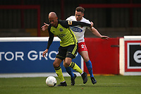 Alex Finney of Aldershot Town and Ben House of Dagenham and Redbridge during Dagenham & Redbridge vs Aldershot Town, Vanarama National League Football at the Chigwell Construction Stadium on 16th November 2019
