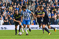 Isaiah (Izzy) Brown of Brighton & Hove Albion (37) In action during the Premier League match between Brighton and Hove Albion and Everton at the American Express Community Stadium, Brighton and Hove, England on 15 October 2017. Photo by Edward Thomas / PRiME Media Images.