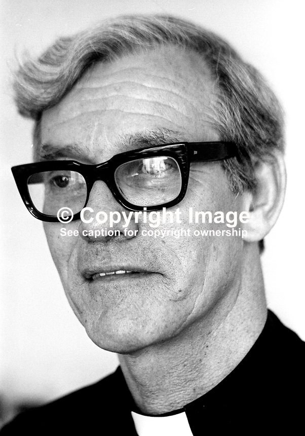 Rev George White, aka Father George White, priest, St Agnes' Church, Andersonstown, Belfast, N Ireland, 197608240365<br /> <br /> Copyright Image from Victor Patterson, 54 Dorchester Park, Belfast, UK, BT9 6RJ<br /> <br /> Tel: +44 28 9066 1296<br /> Mob: +44 7802 353836<br /> Voicemail +44 20 8816 7153<br /> Email: victorpatterson@me.com<br /> Email: victorpatterson@gmail.com<br /> <br /> IMPORTANT: My Terms and Conditions of Business are at www.victorpatterson.com