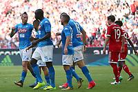 Esultanza dopo il gol di Kalidou Koulibaly Napoli<br /> Monaco 02-08-2017  Stadio Allianz Arena<br /> Football Audi Cup 2017 <br /> Bayern Monaco - Napoli<br /> Foto Cesare Purini / Insidefoto
