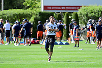 Wednesday, August 17, 2016: New England Patriots wide receiver Danny Amendola (80) stretches at a joint training camp session between the Chicago Bears and the New England Patriots held at Gillette Stadium in Foxborough Massachusetts. Eric Canha/CSM