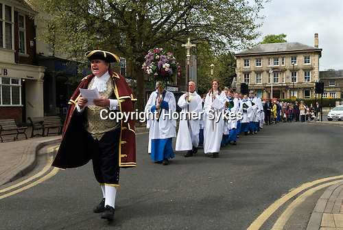 Wilkes Walk is an annual procession to the Almshouses on North Street in Leighton Buzzard Bedfordshire Uk. <br />
