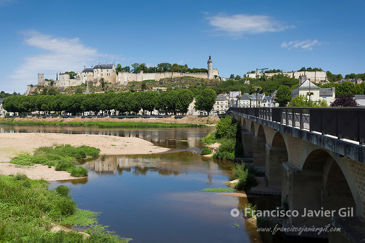 View of Chinon, Indre-et-Loire, Loire valley, Central region, France
