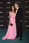 LOS ANGELES, CA - NOVEMBER 07: Actress Salma Hayek, wearing Gucci, (L) and Francois-Henri Pinault attend LACMA 2015 Art+Film Gala Honoring James Turrell and Alejandro G Iñárritu, Presented by Gucci at LACMA on November 7, 2015 in Los Angeles, California.