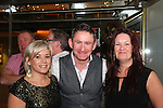 Ciara Hinbay, Ant Morgan and Theresa Ryan at their night out in the D Hotel.<br /> Picture: Shane Maguire / www.newsfile.ie