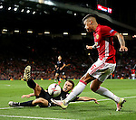 Marcos Rojo of Manchester United crosses the ball during the UEFA Europa League match at Old Trafford Stadium, Manchester. Picture date: September 29th, 2016. Pic Matt McNulty/Sportimage