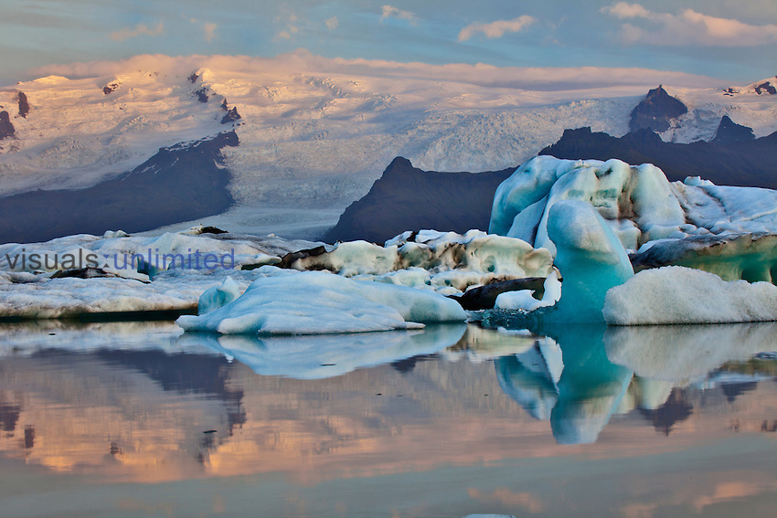 Glacier Lagoon at sunrise, Iceland