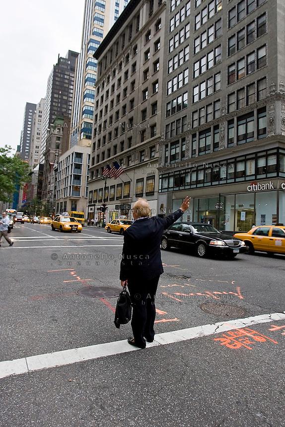 New York, Usa, Giugno 2007. Taxi in New York