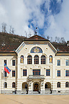 Regierung, Government, Vaduz, Rheintal, Rhine-valley, Liechtenstein.