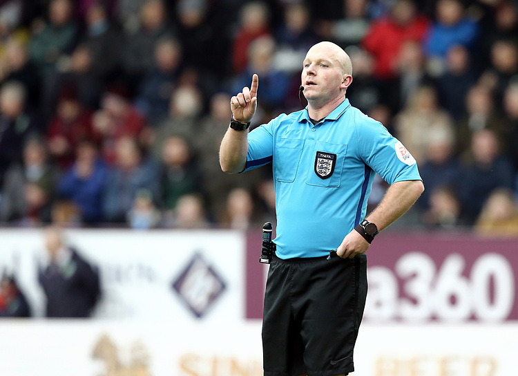 Referee Simon Hooper<br /> <br /> Photographer Rich Linley/CameraSport<br /> <br /> Emirates FA Cup Third Round - Burnley v Barnsley - Saturday 5th January 2019 - Turf Moor - Burnley<br />  <br /> World Copyright © 2019 CameraSport. All rights reserved. 43 Linden Ave. Countesthorpe. Leicester. England. LE8 5PG - Tel: +44 (0) 116 277 4147 - admin@camerasport.com - www.camerasport.com
