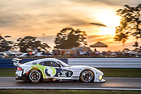 Sunset, #33 Dodge Viper,  Ben Keating, Sebastiaan Bleekemolen, Jeroen Bleekemolen , 12 Hours of Sebring, Sebring International Raceway, Sebring, FL, March 2015.  (Photo by Brian Cleary/ www.bcpix.com )