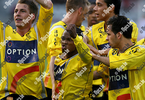 2007-04-28 / Antwerp FC - Oud-Heverlee Leuven:  Boy-Boy Mosia (midden) scoorde de 0-1