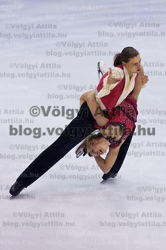 Zsuzsanna Nagy and Mate Fejes performs during the figure skating national championships held in Budapest's Practice Ice Center. Budapest, Hungary. Sunday, 09. January 2011. ATTILA VOLGYI