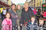 Ciara, Margaret, Diarmuid Furlong, Sandra, Conor and Jamie O'Donoghue having fun at the Killarney Tidy town's celebration street party on Sunday