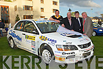 Brian McArdle Ordinance Survey Ireland, Patrick O'Donoghue Killarney Mayor, Gary McCorrock Course Clerk and Diarmuid Cronin Killarney Motor club Chairman checking out the course at the Rally of the Lakes launch in the Brehon Hotel Killarney on Sunday.