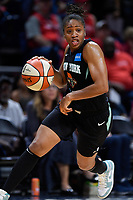 Washington, DC - August 25, 2019: New York Liberty guard Tanisha Wright (30) drives to the basket during first half action of game between the New York Liberty and the Washington Mystics at the Entertainment and Sports Arena in Washington, DC. The Mystics defeated New York 101-72. (Photo by Phil Peters/Media Images International)