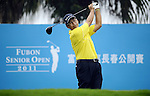 TAIPEI, TAIWAN - NOVEMBER 18:  David Ishii of the USA tees off on the 1st hole during day one of the Fubon Senior Open at Miramar Golf & Country Club on November 18, 2011 in Taipei, Taiwan.  Photo by Victor Fraile / The Power of Sport Images