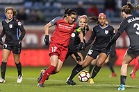 Bridgeview, IL - Saturday March 31, 2018: Christine Sinclair during a regular season National Women's Soccer League (NWSL) match between the Chicago Red Stars and the Portland Thorns FC at Toyota Park.