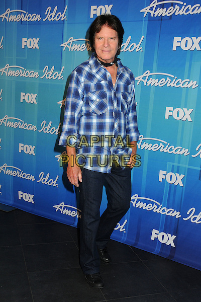 John Fogerty.American Idol Season 11 Finale - Press Room held at Nokia Theatre LA Live, Los Angeles, California, USA..May 23rd, 2012.full length black white blue check shirt jeans denim.CAP/ADM/BP.©Byron Purvis/AdMedia/Capital Pictures.