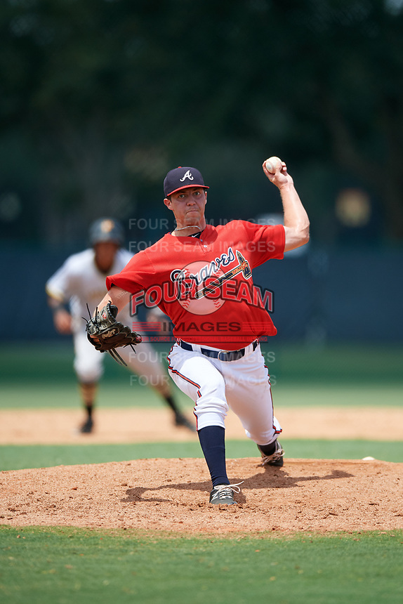 GCL Braves relief pitcher Hayden Deal (39) delivers a pitch during a game against the GCL Pirates on July 27, 2017 at ESPN Wide World of Sports Complex in Kissimmee, Florida.  GCL Braves defeated the GCL Pirates 8-6.  (Mike Janes/Four Seam Images)