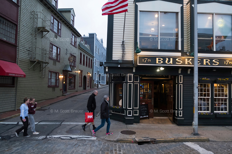 Buskers is a restaurant and pub located on Thames Street in Newport, Rhode Island, seen here on Wed., April 19, 2017.