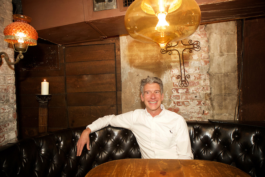 NEW YORK, NY - April 21, 2016: Derek Sanders, Architect and owner of La Esquina, the Nolita Mexican cafe, underground restaurant and taco stand. This year, La Esquina celebrates a decade in business.<br /> <br /> CREDIT: Clay Williams for Food Republic.<br /> <br /> &copy; Clay Williams / claywilliamsphoto.com