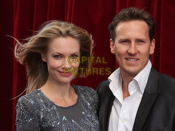 ZOE HOBBS & BRENDAN COLE .'An Audience with Michael Buble' Red Carpet arrivals at the London ITV Studios, South Bank, London, England. .May 3rd 2010 .headshot portrait black grey gray couple .CAP/ROS.©Steve Ross/Capital Pictures.