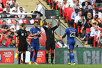 Chelsea's recent signing, Alvaro Morata, replaces Michy Batshuayi in the second half during Arsenal vs Chelsea, FA Community Shield Football at Wembley Stadium on 6th August 2017