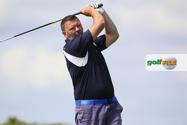 Kieran Horkan (Castlebar) during the final of the AIG Jimmy Bruen Shield Connacht Final, in Galway Bay Golf Club, Galway, Ireland. 12/08/2017<br /> Picture: Fran Caffrey / Golffile