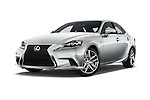 Stock pictures of low aggressive front three quarter view of 2016 Lexus IS F Sport Line 4 Door Sedan Low Aggressive