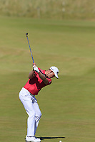 Jacques Kruyswijk (RSA) plays his 2nd shot on the 2nd hole during Friday's Round 2 of the 2018 Dubai Duty Free Irish Open, held at Ballyliffin Golf Club, Ireland. 6th July 2018.<br /> Picture: Eoin Clarke | Golffile<br /> <br /> <br /> All photos usage must carry mandatory copyright credit (&copy; Golffile | Eoin Clarke)