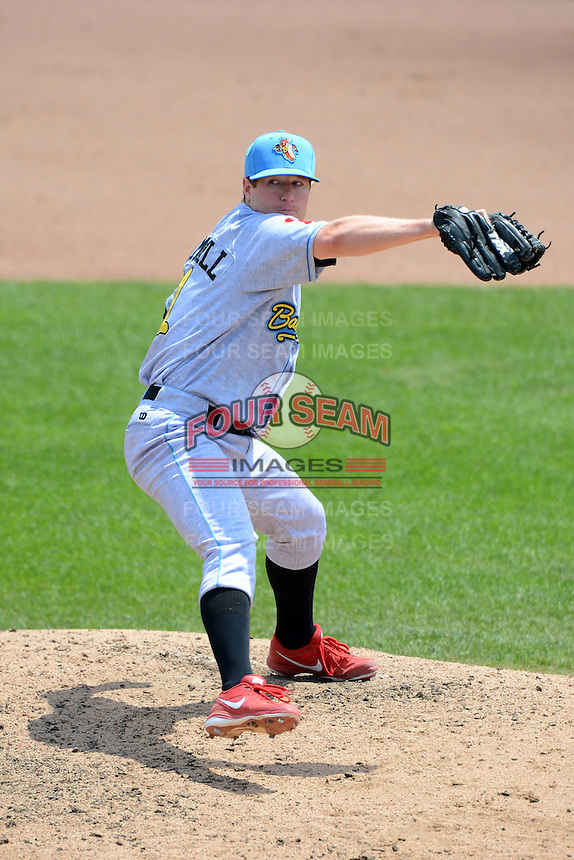 Reading Fightin Phils pitcher Bobby Bramhall #31 during a game against the Trenton Thunder on July 8, 2013 at Arm & Hammer Park in Trenton, New Jersey.  Trenton defeated Reading 10-6.  (Mike Janes/Four Seam Images)