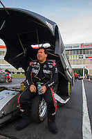 May 15, 2015; Commerce, GA, USA; NHRA funny car driver Cruz Pedregon during qualifying for the Southern Nationals at Atlanta Dragway. Mandatory Credit: Mark J. Rebilas-USA TODAY Sports