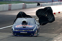 Aug 30, 2014; Clermont, IN, USA; NHRA pro stock driver Jason Line during qualifying for the US Nationals at Lucas Oil Raceway. Mandatory Credit: Mark J. Rebilas-USA TODAY Sports