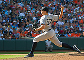 New York Yankees relief pitcher Chad Green (57) pitches in the sixth inning against the Baltimore Orioles at Oriole Park at Camden Yards in Baltimore, MD on Monday, September 4, 2017.<br /> Credit: Ron Sachs / CNP<br /> (RESTRICTION: NO New York or New Jersey Newspapers or newspapers within a 75 mile radius of New York City)