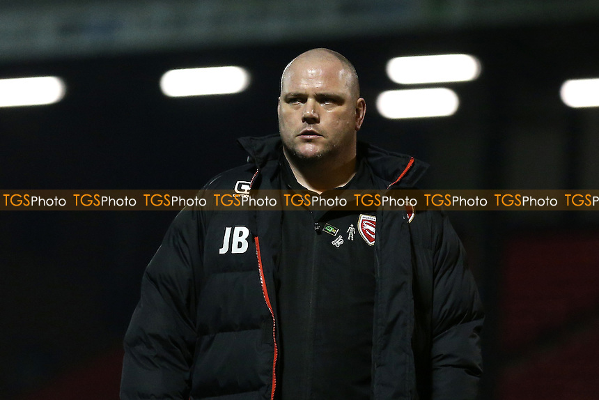 Morecambe manager Jim Bentley during Leyton Orient vs Morecambe, Sky Bet EFL League 2 Football at the Matchroom Stadium on 7th February 2017