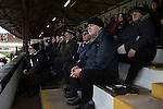 Home supporters in the main stand watching the action during the first-half at Victory Park, as Chorley played Altrincham in a Vanarama National League North fixture. Chorley were founded in 1883 and moved into their present ground in 1920. The match was won by the home team by 2-0, watched by an above-average attendance of 1127.