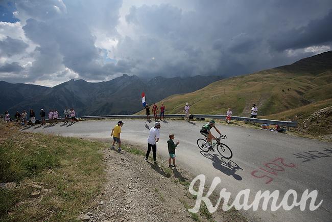 Perrig Quemeneur (FRA/Europcar) up the Col d'Allos (1C/2250m/14km/5.5%)<br /> <br /> stage 17: Digne-les-Bains - Pra Loup (161km)<br /> 2015 Tour de France