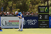 Brett Rumford (AUS) in action on the 2nd during Round 2 of the ISPS Handa World Super 6 Perth at Lake Karrinyup Country Club on the Friday 9th February 2018.<br /> Picture:  Thos Caffrey / www.golffile.ie<br /> <br /> All photo usage must carry mandatory copyright credit (&copy; Golffile | Thos Caffrey)
