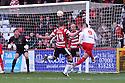 Marcus Haber of Stevenage head goalwards. Stevenage v Doncaster Rovers - npower League 1 -  Lamex Stadium, Stevenage - 12th January, 2013. © Kevin Coleman 2013.