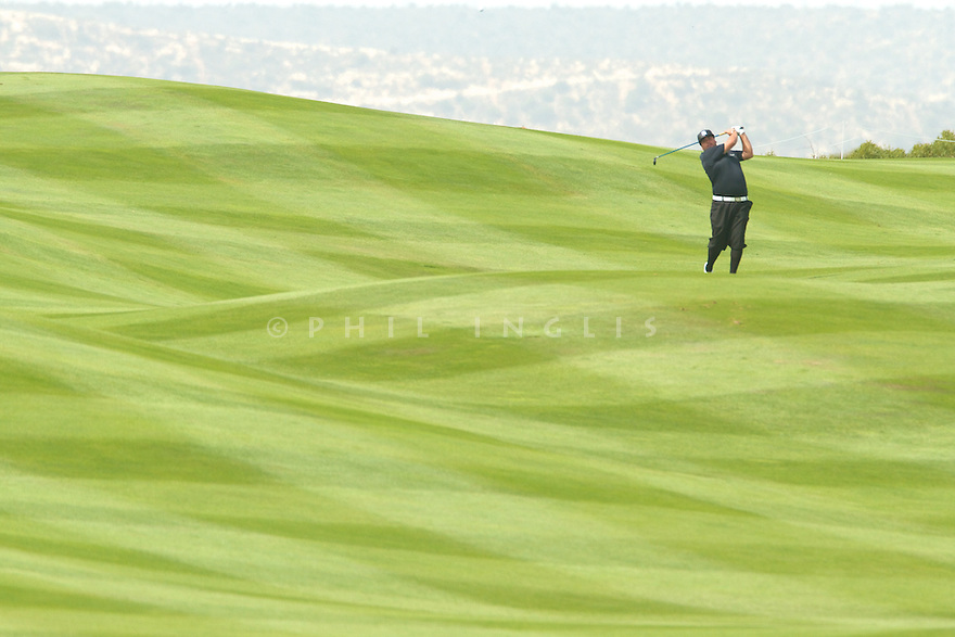 Joel Sjoholm (SWE) in action during the first round of the 39th Trophee Hassan II played at the Golf du Palais Royal d'Agadir, Agadir, Morocco 22 - 25 March 2012. (Picture Credit / Phil Inglis)