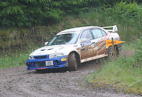 Mike Faulkner / Peter Foy at Junction 12 on Special Stage 2 Windy Hill of the 2012 RSAC Scottish Rally supported by Dumfries and Galloway Council, Round 5 of the RAC MSA Scottish Rally Championship which was based in Dumfries on 30.6.12.