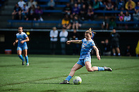 Seattle, WA - Sunday, May 22, 2016: Chicago Red Stars defender Arin Gilliland (3) passes the ball during a regular season National Women's Soccer League (NWSL) match at Memorial Stadium. Chicago Red Stars 2-1.