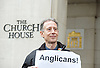 Peter Tatchell (Human Rights &amp; LGBT activist)  together with members of the LGBT Community protest outside Church House, Westminster, London, Great Britain <br /> 15th February 2017 <br /> <br /> Members of the General Synod vote on the Anglican position of same sex marriage.<br /> <br /> Photograph by Elliott Franks <br /> Image licensed to Elliott Franks Photography Services