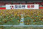 General view,<br /> DECEMBER 23, 2013 - Football / Soccer :<br /> The Empress Cup winners board is seen on the pitch covered with gold confetti and tapes after the 35th All Japan Women's Football Championship final match between INAC Kobe Leonessa 2(4-3)2 Albirex Niigata Ladies at NACK5 Stadium Omiya in Saitama, Japan. (Photo by AFLO)