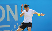 June 17th 2017, Nottingham, England; ATP Aegon Nottingham Open Tennis Tournament day 6;  Forehand from Thomas Fabbiano of Italy who defeated Sam Groth of Australia in two sets and now progresses to the final
