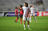 Cary, N.C. -  Wednesday October 10, 2018: The women's national teams of the United States (USA) and Trinidad & Tobago (TNT) play in a 2018 CONCACAF Women's Championship game at Sahlen's Stadium at WakeMed Soccer Park.