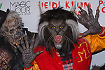 Heidi Klum poses as Michael Jackson's Thriller Werewolf with zombies, at Heidi Klum's 18th Annual Halloween Party presented by Party City and SVEDKA Vodka at Magic Hour Rooftop Bar & Lounge at Moxy Times Square, on October 31, 2017.