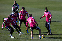 Kehedira, Coentrao, Bale and Cristiano Ronaldo during a sesion training at Real Madrid City in Madrid. January 23, 2015. (ALTERPHOTOS/Caro Marin) /NortePhoto<br />