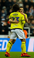 Blackburn Rovers' Bradley Dack celebrates scoring the opening goal with Craig Conway<br /> <br /> Photographer Alex Dodd/CameraSport<br /> <br /> Emirates FA Cup Third Round - Newcastle United v Blackburn Rovers - Saturday 5th January 2019 - St James' Park - Newcastle<br />  <br /> World Copyright &copy; 2019 CameraSport. All rights reserved. 43 Linden Ave. Countesthorpe. Leicester. England. LE8 5PG - Tel: +44 (0) 116 277 4147 - admin@camerasport.com - www.camerasport.com